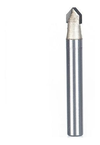 Fresa Gravadora V-bit 90 Graus Haste Haste 6mm Corte 1/4