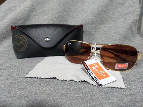 Oculos Rayban Com Estojo, Flanela E Certificado