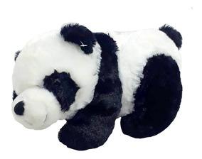 Urso Panda Pelúcia Grande 27 Cm Antialérgico Lavável