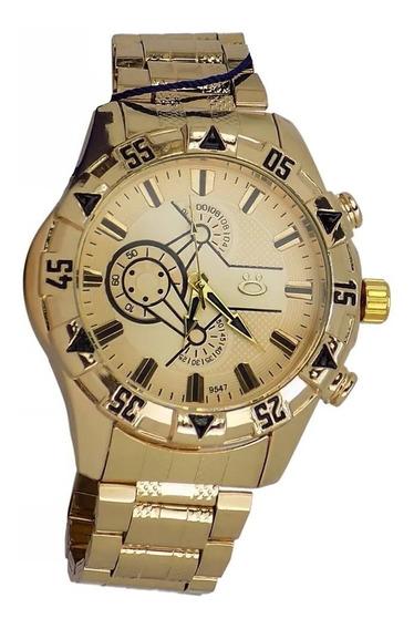 Relógio Masculino Dourado Original Barato Promoção