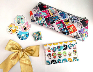 Mini Set Para Regalo Vocaloid Miku Hatsune Anime Luka Rin