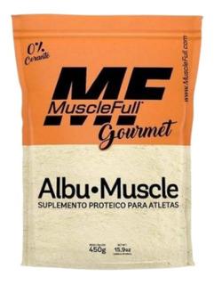 Albu- Muscle 450g Muscle Full - Sabores Morango E Chocolate