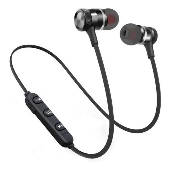 Fone Bluetooth Overfly H19 Sport Magnético Preto