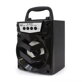 Caixa Som Pendrive Usb Cartao Radio Fm Aux P2 Altomex