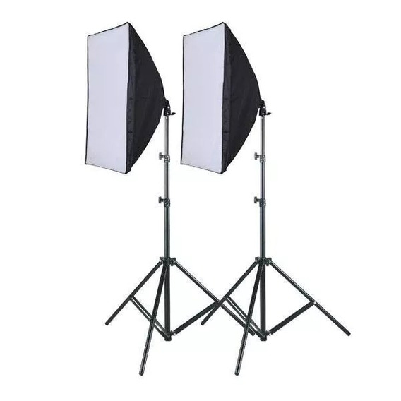 Kit 2 Softbox 50 X 70 E27 Luz Continua + 2 Tripes 2m Foto