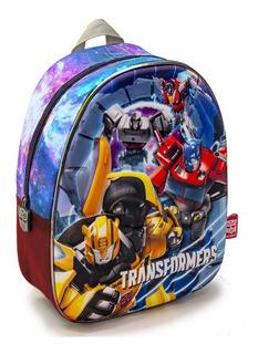 Mochila Espalda Jardin 13p 3d Transformers Orig Mundo Manias