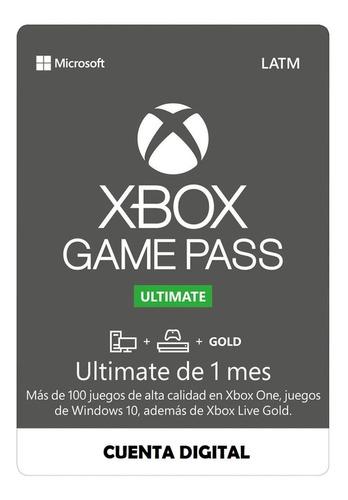 Imagen 1 de 7 de Xbox Live Gold + Game Pass Ultimate 1 Mes Envío Inmediato