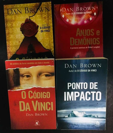 Coleção 4 Livros Dan Brown