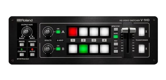 Mesa De Vídeo Roland V1hd Misturador 4 Canais + Nota Fiscal.