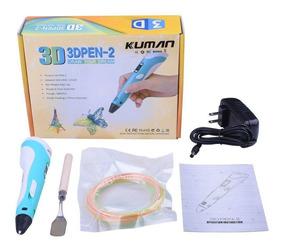 Caneta Impressora 3d Drawing Pen 3d Filamento Abs Lcd Bivolt