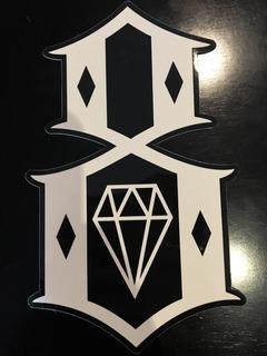 Calcomania Sticker Rebel8.com Original Skateboard Auto 10 Pz