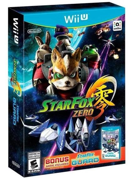 Star Fox Zero + Bonus Star Fox Guard Wii U Mídia Física Novo
