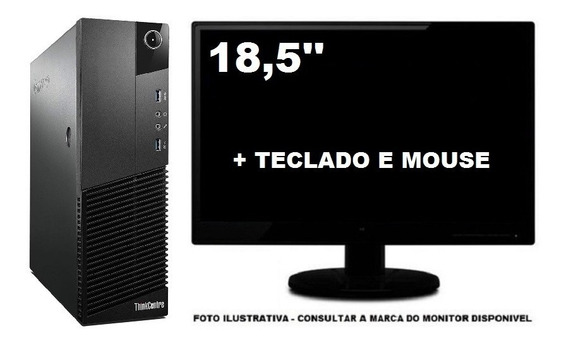 Lenovo Thinkcentre M83 I3 4130 8gb 240ssd Mon 18,5 Semi Novo