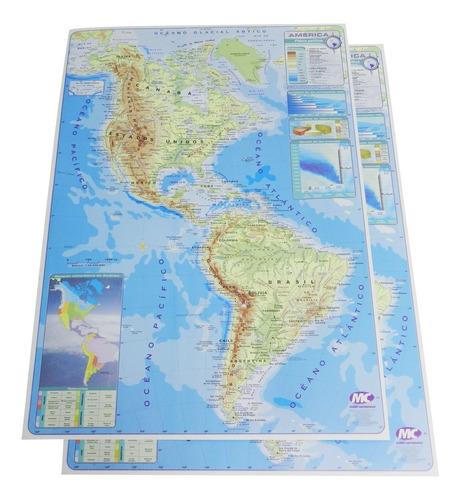 Mapas Para Estudio Fisico Politico America Mapamundi Vz