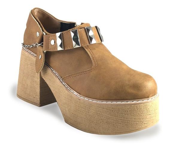 Zapato De Mujer Con Taches Cierre Taco Ancho (ref 5020).