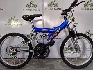 Bicicleta Doble Suspensión Rod 20 Kelinbike Para 7-9 Años