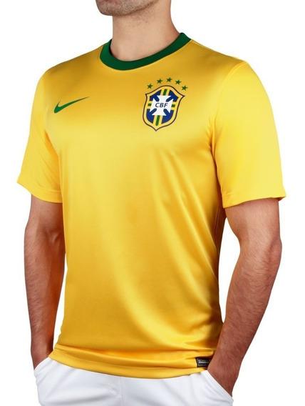Camisa Futebol Seleção Brasileira Brasil Nike 2014 Dri - Fit