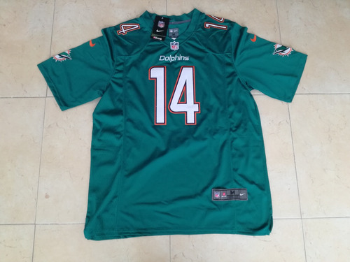 newest 884dd c3419 Miami Dolphins Jarvis Landry Jersey Nike Bordado Talla M