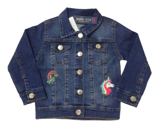 Jaqueta Jeans Infantil Menina Tamanho 2