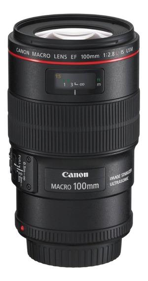 Lente Canon Ef 100mm F/2.8l Macro Is Usm Pronta Entrega Nova