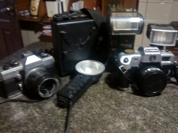 Kit Fotografo-maquinas E Flash Antigos