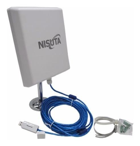 Receptor Wifi Usb Exterior Hasta 5km Nisuta Mega Potencia