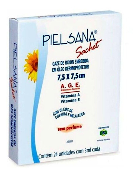 Curativo Gaze De Rayon Age Pielsana 7,5x7,5 Cm C/ 24 Dbs
