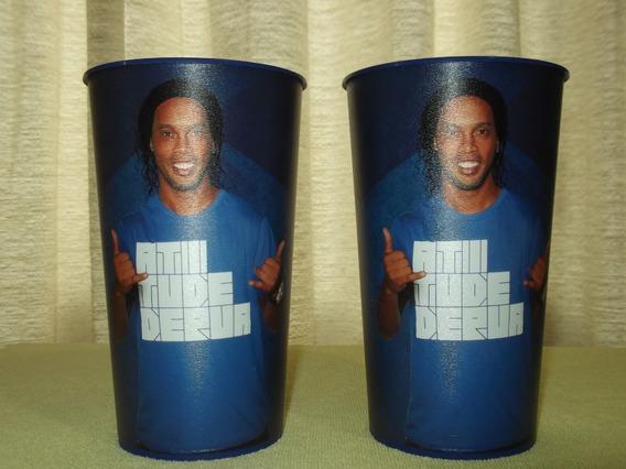 Vasos Pepsi Cola Vintage Retro Con La Imagen De Ronaldinho