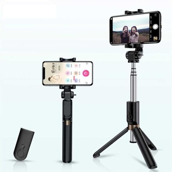Selfie Bluetooth Com Controle & Tripé Da Rock