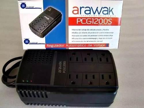 Regulador De Voltaje 1200 Va Arawak 6 Tomas
