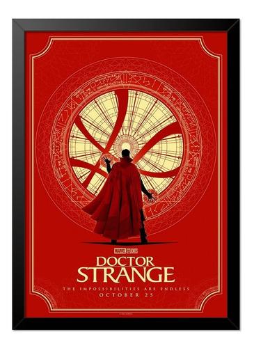 Imagem 1 de 1 de Quadro Poster Doutor Estranho 33x23cm