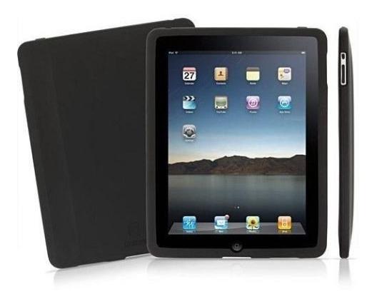 Capa Silicone Preta iPad Apple + Super Película Retire No Rj
