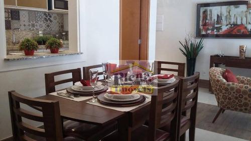 Imagem 1 de 10 de Apartamento Com 3 Dormitórios À Venda, 75 M² Por R$ 385.000 - Jardim Villagio Ghiraldelli - Hortolândia/sp - Ap1267