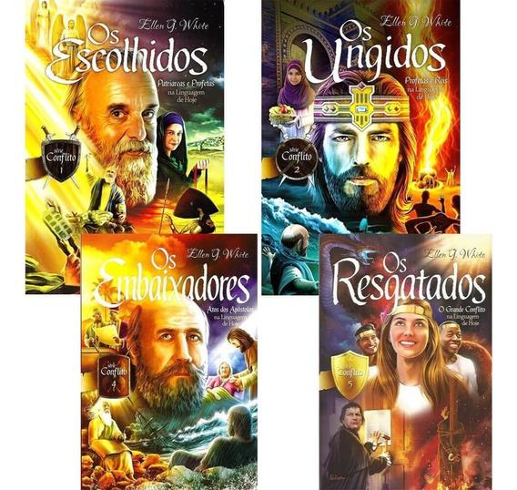 Coleção Livros Serie Conflito Ellen G. White Vl 1, 2, 4 E 5