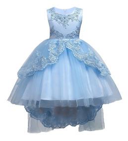 Vestido Infantil Daminha Bordado Casamento Renda Princesa