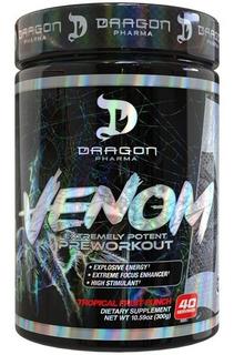 Novo Venom Pré Treino Dragon Pharma 40 Doses Importado