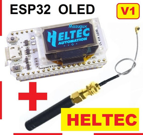 Esp32 Lora Oled Wifi 915 Mhz Antena Heltec Bluetooth Ble 4.0