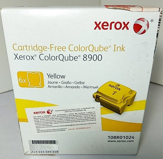 108r01024 Cartridge Xerox Amarela Colorqube 8900 Cx C/6