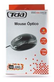Kit Com 20 Mouses Óptico Tda Preto