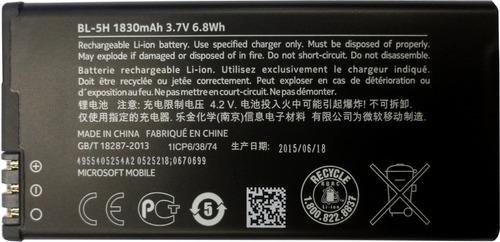 Imagen 1 de 4 de Bateria Nokia Original Bl-5h Lumia 630 635 1830mah (2015)
