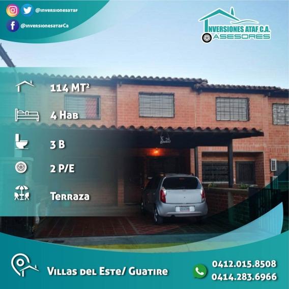 Casa Town House En Venta Villas Del Este Guatire