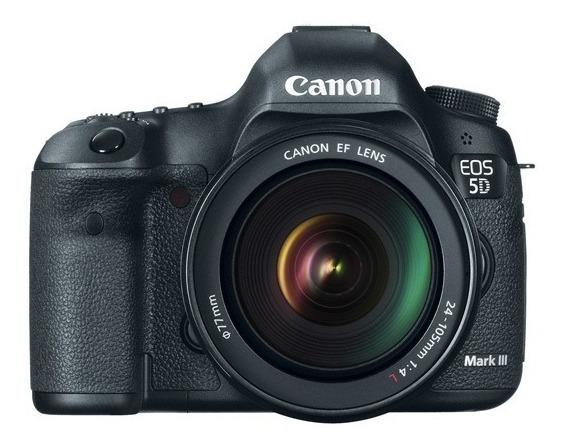 Câmera Canon 5d Mark Iii C/ Grip 2 Baterias Lente 24-105mm