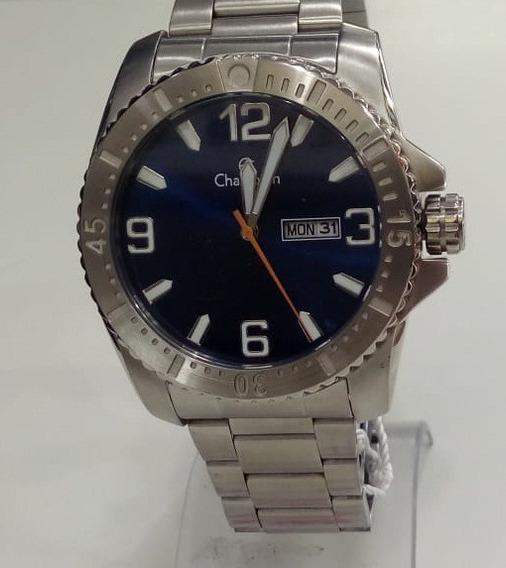 Relógio Champion Masculino Ca31588f Aço Prata Original Novo