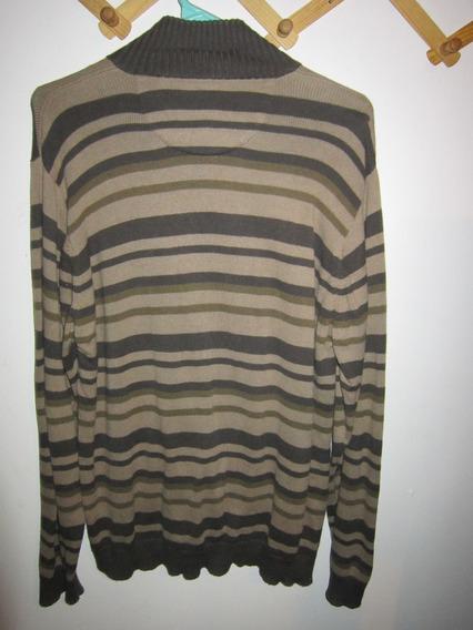 Sweater Cardigang De Rayas Talla M