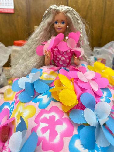 Muñeca Barbie Mattei Original Vestida Con Flor Edición Ltda