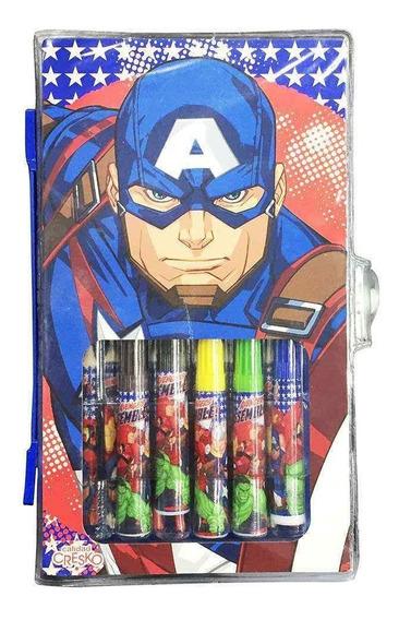 Avengers Set De Arte 42 Piezas Sp426 C/licencia Original