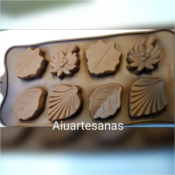 Molde De Silicona Hojas Rosa Parra.chocolate Jabón