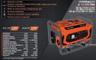 Generador A Gasolina Gladiator Ge63300 50hz Pinxel