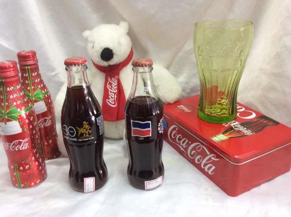 Garrafa E Urso Coca-cola/copo/lata Coca-cola