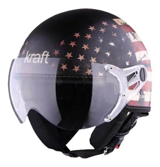 Capacete Moto Aberto Kraft Plus Usa